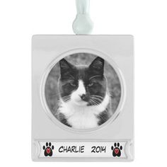Customizable Pet's Christmas Ornament Silver Plated Banner Ornament