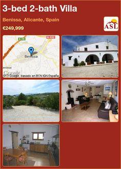 3-bed 2-bath Villa in Benissa, Alicante, Spain ►€249,999 #PropertyForSaleInSpain