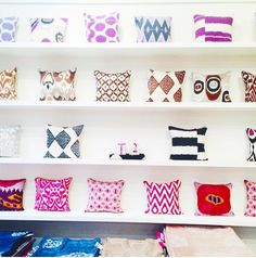 Great shot by Design Darling Mackezie Horan of Madeline Weinribs Ikat Pillows