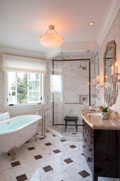 Lion Gate Estate, Los Angeles, CA. Another private bathroom. House, Interior, Home, Lifestyle Design, Luxury, Clawfoot Bathtub, Beautiful Homes, Bathroom, Interior Design