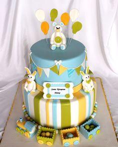 https://flic.kr/p/Cak3PG | Baptism boy cake
