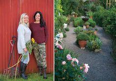 Kari Nygaard og Irene Jacobsen oppfordrer til lave skuldre i hagen.