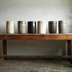 These hand turned wood jars are amazing from Blackcreek mercantile & trading co. Joshua Vogel