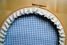 How to finish off the back of an Embroidery Hoop - tutorial