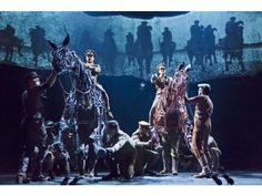 """Grayson DeJesus and Michael Wyatt Cox in the national tour of the National Theatre of Great Britain production of """"War Horse.""""  (c)BRINKHOFF/MOEGENBURG"""