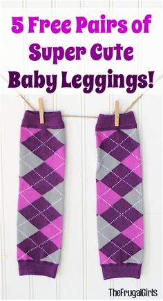 5 FREE Pairs of Super Cute Baby Leggings! {just pay s/h} - these make such fun Baby Shower gifts, too! #babies #thefrugalgirls