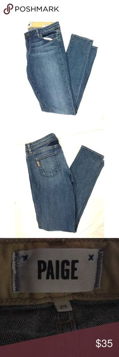 """PAIGE Skinny Moto Jeans Excellent condition. Inseam is 32"""" PAIGE Jeans Skinny"""