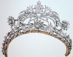 diamond floral tiara:  any information?