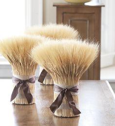 Blonde Wheat Bundle Centerpiece With Ribbon | Housewarming Gifts