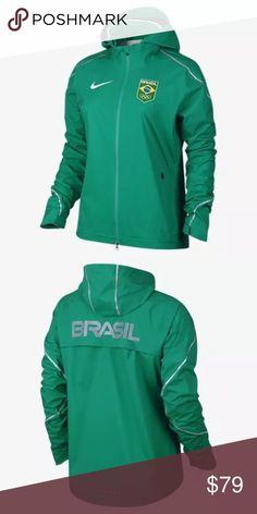 dbcfadb14fa5 Nike Womens Hypershield Team Brazil Running Jacket