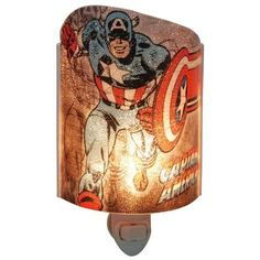 """Marvel Comics Captain America Acrylic Nightlight Collection Marvel Comics Size 7"""" Tall Made From Acrylic Comes With Bulb Plugs Into Wall Outlet Officially Licensed Marvel Comics #Nightlight"""