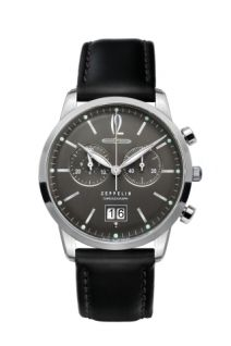 Graf Zeppelin features a Swiss Ronda quartz chronograph movement that can time up to twelve hours. A dual function sub-dial at tracks both minutes and hours. Big date function is at Gents Watches, Fine Watches, Cool Watches, Rolex Watches, Watches For Men, Zeppelin Watch, Watch Brands, Fashion Watches, Omega Watch