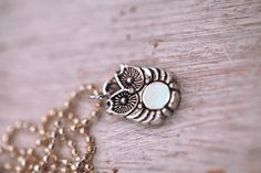 Silver color Owl Handmade Pendant