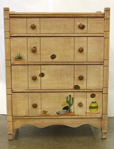 Old California and Spanish Revival Style -- Monterey chest of drawers