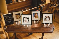 I never got to meet my husband's grandfather and he never got to meet my grandmother. Both were huge inspirations in our lives so we both decided to place their photos within our ceremony as tribute to them. My husband also lost two of his cousins tragically the same year before we got married.