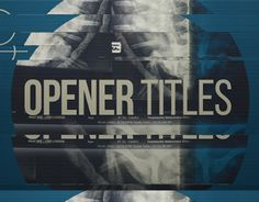 """Check out new work on my @Behance portfolio: """"Glitch Opener Titles"""" http://on.be.net/1SDrczW"""