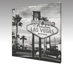 Photo Art Canvas Welcome to Fabulous Las Vegas by theARTofSQUARE