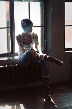 """(Chloe) I sit in an abandon apartment building. I pull out a cigarette and start smoking when you walk in. """"That's a bad habit you know."""" You say and I chuckle."""