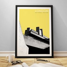 National Theatre - Yellow - East End Prints Buy Prints Online, National Theatre, Framed Art Prints, Bookends, Cool Stuff, Yellow, Photography, Fotografie, Photograph