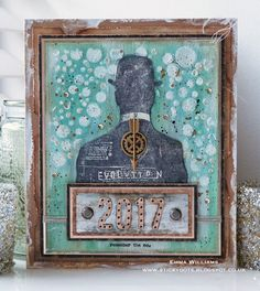 Looking Forward to 2017 - created by Emma Williams for Simon Says Stamp Monday Challenge Blog using products by Tim Holtz