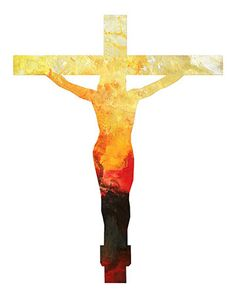 Art Print Jesus Cross Religious Inspirational Biblical Modern Contemporary Abstract Poster and Prints