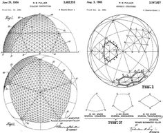 Buckminster Fuller's 1954 and 1965 patents for the Geodesic Dome  #BuckminsterFuller #bucky #geodesic