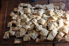 Without further ado, our Simple Crackers....  (makes approximately 120 one-inch crackers, or in other words, fills my 2 liter jar perfectly....