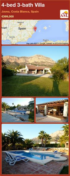 4-bed 3-bath Villa in Javea, Costa Blanca, Spain ►€399,000 #PropertyForSaleInSpain
