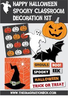 halloween decorations spooky classroom kit