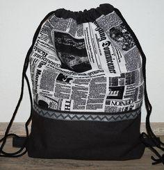 Turnbeutel - Turnbeutel/ Sportbag Schrift - ein Designerstück von Peggy-Helm bei DaWanda