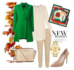 """#mydailyfashion#sultankurtay"" by sultankurtay on Polyvore featuring BCBGMAXAZRIA, Versace, Pierre Cardin, Michael Kors and Movado"