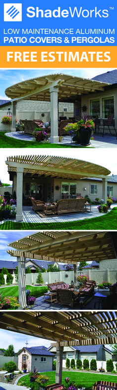 Get the patio you've always dreamed of. Styles and options are endless! Visit our website to schedule your free estimate today. Treasure Valley- Idaho Falls - Pocatello - Twin Falls