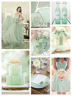 mint green wedding  inspiration board #vintage