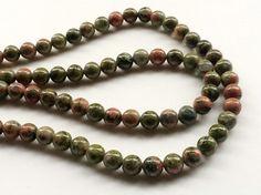 Unakite Jasper Beads Unakite Smooth Round Balls by gemsforjewels