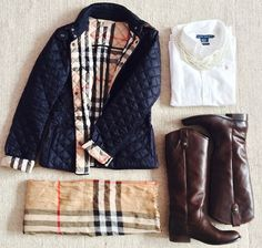 Burberry always looks sophisticated. Love my burberry jacket. Perfect weight for southern winters. Preppy Outfits, Preppy Style, Cute Outfits, Outfits 2014, Preppy Fall, Fall Winter Outfits, Autumn Winter Fashion, Winter Wear, Zapatillas Louis Vuitton