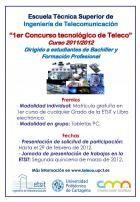 CONCURSO TECNOLOGICO DE TELECO PARA ESTUDIANTES DE BACHILLER Y FORMACION PROFESIONAL