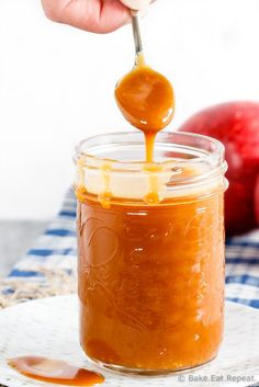 This homemade salted caramel sauce has just 4 ingredients and is so easy to make. If you love salted caramel sauce, you need to try making it!