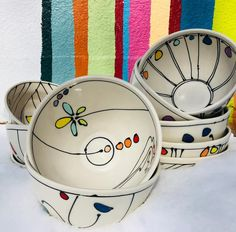 emptybowls is tonight at The Lewis Clark Fairgrounds benefiting The Friendship Center Come support an amazing organization and leave with a beautiful handmade bowl pm seeyouthere freeceramics colorful porcelain dots dishwashersafe Glazes For Pottery, Pottery Bowls, Ceramic Pottery, Pottery Art, Painted Ceramic Plates, Ceramic Painting, Ceramic Cafe, Slab Ceramics, Pottery Painting Designs