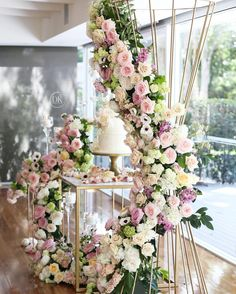 6 DIY Wedding Ideas That Can Save You Money > More Wedding Ideas and Wedding Inspiration Cake Table Decorations, Reception Decorations, Event Decor, Reception Ideas, Wedding Stage, Wedding Themes, Wedding Designs, Wedding Reception, Floral Wedding
