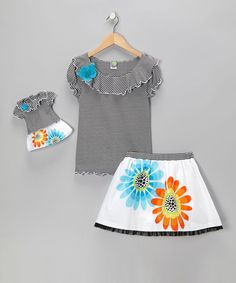 """Dollie & Me Sz 4 6 gril and 18"""" doll matching outfit fit american girl #DollieandMe"""