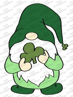 Gnome SVG for 8 Holidays Cuttable Cricut Silhouette Christmas Gnome, Christmas Birthday, July Birthday, Veterans Day Activities, Cricut, St Patrick's Day Crafts, St Pattys, Handmade Baby, Rock Art