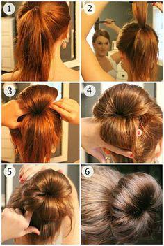Come fare chignon a ciambella per capelli, tutorial - Spettegolando