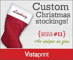 Personalized Holiday Stockings from Vistaprint – Only $7.99 Shipped We have a fun offer from Vistaprint for you today! Right now you can score a Personalized Holiday Stocking for only $7.99 sh ...