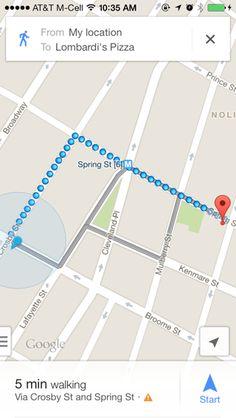 Googlemaps iPhone maps screenshot