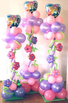balloon twisting for baby shower   Princess columns