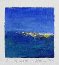 "Apr. 19, 2018 9 cm x 9 cm (app. 4"" x 4"") oil on canvas © 2018 Hiroshi Matsumoto www.hiroshimatsumoto.com"