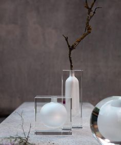 Block Glass Clear by Rosenthal. #Rosenthal #mini #vase #YVR #BC #Vancouver #Vancity #Home #Homedecor #interiordesign #design #Luxury #Elegant #quality #flowers #floral #decor #unique #clear #minimal #simple