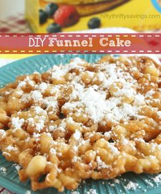 DIY Funnel Cake Recipe Desserts with bisquick, milk, eggs, vegetable oil Just Desserts, Delicious Desserts, Yummy Food, Yummy Yummy, Sweet Recipes, Cake Recipes, Dessert Recipes, Dessert Bread, Fun Recipes