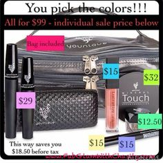 Did you know purchasing one of Younique's collections is cheaper than buying each product individually??? AND if you received a half off item from a qualifying online party you can apply it to a collection!!!