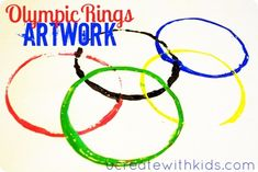 Olympic Banner with Cups and Paint